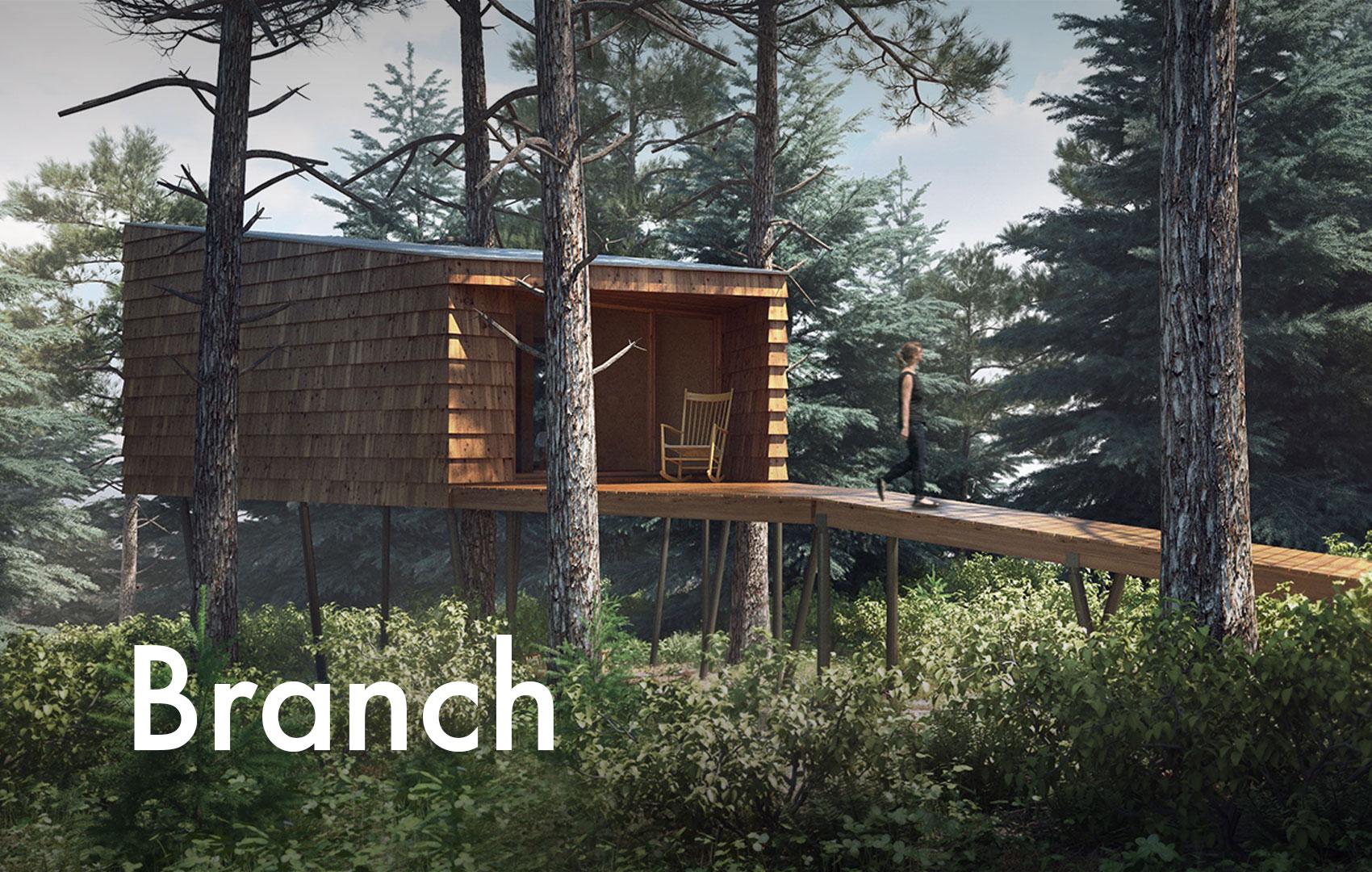 cabane branch camping de saignel gier. Black Bedroom Furniture Sets. Home Design Ideas